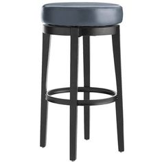 Behold the Stratmoor—a sleek swivel bar stool with dizzying good looks. When someone orders another round from this plush, faux-leather perch, it means one of two things: They want another drink. Or they want to take another spin on the stool. Not recommended: Both at once. Swivel Counter Stools, Bar Counter, Dive Bar, Different Colors, New Homes, Modern, Furniture, Home Decor, Kitchens