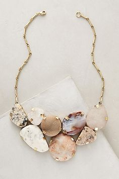 Earth Elements Bib Necklace - anthropologie.com
