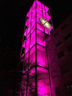 Aarhus City Hall Tower with new Lightning.