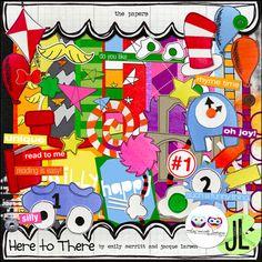 Seuss Digital scrapbooking supplies