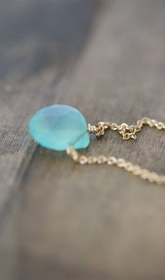 Items similar to Summer Gem Necklace - Choose a Stone Color - Gemstone on Gold Filled Chain on Etsy Jewelery, Jewelry Necklaces, Chain Jewelry, Jewelry Accessories, Jewelry Design, Blue Chalcedony, Blue Gemstones, Summer Jewelry, A 17