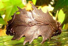 Jewelry Pagan Wicca Witch:  Copper Oak Wire Wrapped #Bracelet.