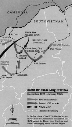 The Bitter End - December 13, 1974 - North Vietnam violates the Paris peace treaty and tests President Ford's resolve by attacking Phuoc Long Province in South Vietnam. President Ford responds with diplomatic protests but no military force in compliance with the Congressional ban on all U.S. military activity in Southeast Asia. - - - and this is why . . . .