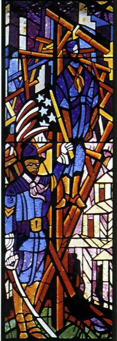 The 1917 24th Infantry Commemorative Window Trinity United Methodist Church, Houston