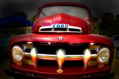 Classic Car: vintage Ford truck.