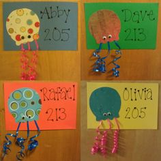 Jellyfish name tags Dorm Name Tags, Ra Door Tags, Door Decks, Resident Assistant, Res Life, Summer Crafts, Projects To Try, Diy Crafts, Doors