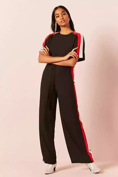 Product Name:Multicolor Panel Jumpsuit, Category:dress, Price:29.9