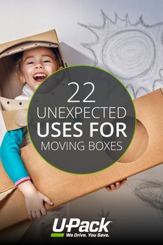 With a few supplies, moving boxes can be repurposed into unique things that can entertain your kids, organize your home, and more!