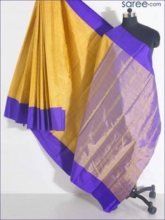 Kanjivarams are eternal favorites of every saree loving woman. These stunningly gorgeous hand-woven sarees, crafted painstakingly with singular dedication, are one of the finest silk fabrics – not only in. Half Saree Lehenga, Lehenga Choli Online, Wedding Sari, Wedding Reception, Reception Sarees, Bright Pillows, Kanjivaram Sarees, Indian Ethnic Wear, Party Wear Sarees