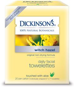 Dickinson's Witch Hazel towelettes- Loove these!