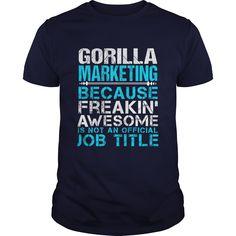 GORILLA MARKETING T-Shirts, Hoodies. Get It Now ==► https://www.sunfrog.com/LifeStyle/GORILLA-MARKETING-Navy-Blue-Guys.html?id=41382