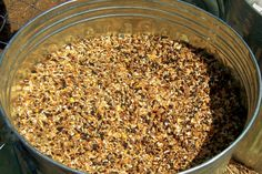 Goat DIY feed! 2# Alfalfa Pellets 1# Steam Rolled Oats 1# Field Peas 1# BOSS (Black Oil Sunflower Seeds) It provides a 18% Protien. 1 tsp dolomite (Calcium) on each serving 1 tsp vit A-D-E, on each serving. Wheat Germ Oil which is a natural form of Vit E, it has extra A and D added in.
