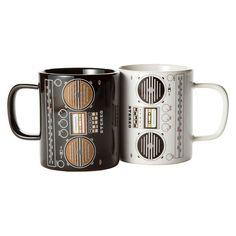 Boombox Mugs Set Of 2