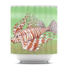 Catherine Holcombe Fish Manchu Shower Curtain