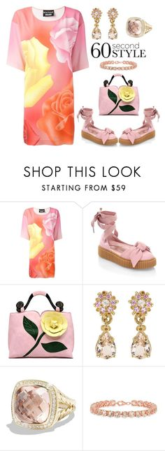 """""""60-Second Style: The T-Shirt Dress"""" by karen-galves on Polyvore featuring Boutique Moschino, Puma, David Yurman, tshirtdresses and 60secondstyle"""