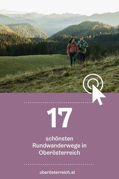 Eine Runde wandern gehen - und das im wahrsten Sinne des Wortes - denn bei einer Rundwanderung kommen Sie dort wieder raus, wo Sie losgewandert sind. Entdecken Sie eine Auswahl der schönsten Rundwanderwege in Oberösterreich: Die Wandertouren führen Sie über grüne Almwiesen, durch Schluchten und zu idyllischen Hütten - atemberaubende Panoramen inklusive. #urlaubinösterreich #urlaubinoberösterreich #uppernature #oberösterreich #wandern #rundwanderwege #wanderlust Wanderlust, Movie Posters, Hiking Trails, Hiking, Film Poster, Billboard, Film Posters