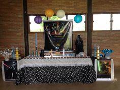 Depois de tantas ideias ... A mesa do bolo motivo Star Wars