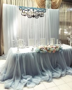 Stunning head table in grey