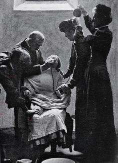 Votes for Women -Torture: A suffragette is force-fed in prison. The term 'suffragette' was coined by the Daily Mail to distinguish the women from earlier campaigners for increased suffrage.