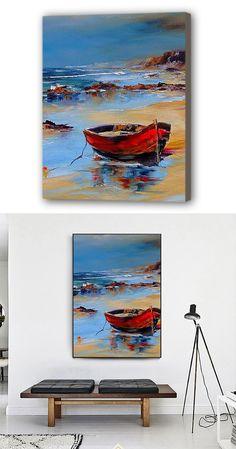 Sailboat Painting, Oil Pastel Paintings, Boat Art, Native American Art, Portrait Art, Cool Artwork, Art Oil, Handmade Art, Landscape Paintings