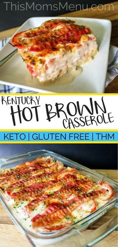 This recipe for Kentucky Hot Brown Casserole is comfort food at it's finest. It will please your entire family (including picky-eaters), but the flavors are impressive enough to serve at dinner parties ... maybe with a Derby theme? #keto #ketorecipes #lowcarb #lowcarbrecipes #glutenfree #derbyparty