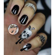 Instagram media leximartone - poison apple skull #nail #nails #nailart