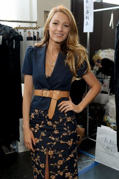 Blake Lively Has the Best Seat in the House...Blake Lively popped up at the Michael Kors Fall 2014 runway show during New York Fashion Week on Wednesday.