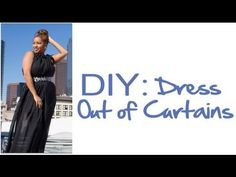 Glitter N Glue: How To Maxi Dress Out Of Curtains/ make a great Grecian goddess dress