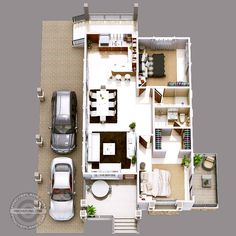 This luxury elevated house design can be built in a 355 square meter lot having a minimum frontage width of meters maintaining meters setback on both sides. House Floor Design, Sims House Design, Architecture Magazines, Amazing Architecture, One Storey House, Craftsman Floor Plans, Modern Bungalow House, Square Columns, My House Plans