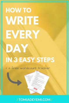 The only thing standing in the way of you writing everyday is figuring out how. I've cracked the code along with 50 other writers and now I'm sharing it with you! Click to find out how you can write everyday in 3 easy steps. Plus get a free word count tracker! Writing | Writing Tips | Writing Inspiration | Publishing | Publishing A Book | Plot | Story | Story Prompts | Story Ideas | Story Inspiration | Story Starters | First Draft | First Draft Writing | First Draft Writing Tips