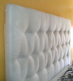 DIY Upholstered Fabric Headboard | DIY Headboard Detail