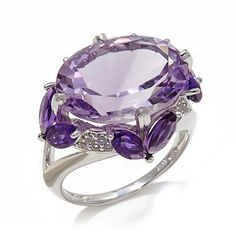 Shop Victoria Wieck 11.05ct Amethyst and White Topaz Sterling Silver Ring, read customer reviews and more at HSN.com.