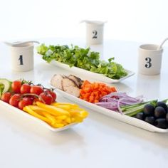 Salad Bar- so many combinations! Great healthy spin for parties/entertaining