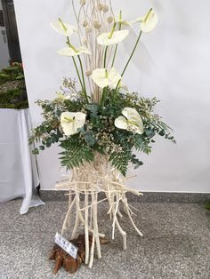 Daum 블로그 - 이미지 원본보기 Floral Arrangements, Flower Arrangement, Flower Decorations, Table Decorations, Corporate Flowers, Fruit Flowers, Calla Lily, Ikebana, My Flower