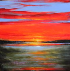 Vivid Sunset by Toni Grote Acrylic ~ 24 inches x 24 inches