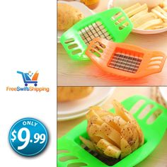 Do you love French fries? This item is made for you then...? Introducing the best potato chopper - French fries maker in the world, only $9.99!