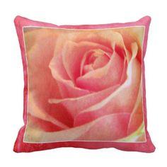 Pink Rose Throw Cushions