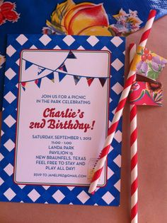 A Picnic in the Park: It's the Perfect Party! picnic oilcloth party invitation by Harper Gray for OGD Football Birthday, 2nd Birthday, Birthday Parties, Birthday Ideas, Park Pavilion, Oilcloth, Picnic In The Park, Corpus Christi, Perfect Party