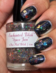 Enchanted Polish's Space Jam (limited edition color!!) over Illamsqua's Phallic