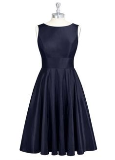AZAZIE LAILAH. Style Lailah by Azazie is a knee-length A-line/princess bridesmaid dress in an exquisite taffeta. #Bridesmaid #Wedding #CustomDresses #AZAZIE