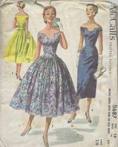 1956. Vestidos de tarde