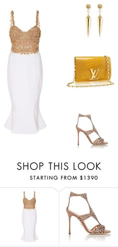 """""""Taylor Swift's concert in Hyde Park."""" by cmmpany ❤ liked on Polyvore featuring Marchesa, Sergio Rossi and Sydney Evan"""