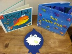 Fishy storytime books and craft idea via train.of.thought.derailed