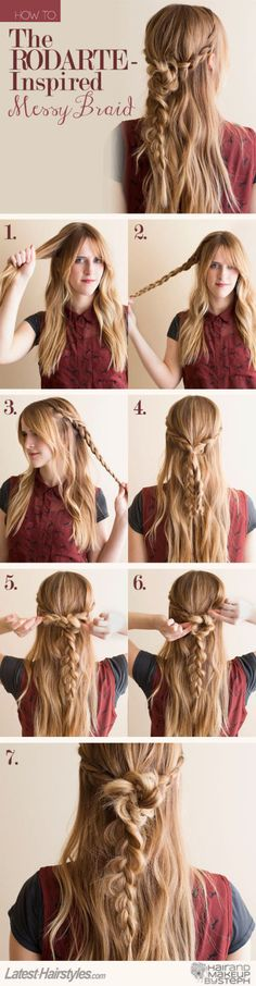 How to create a messy braid | Click for 8 more sassy hair tutorials: http://www.cosmopolitan.co.uk/beauty-hair/hair/a31601/best-party-hair-tutorials/