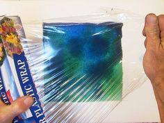 Watercolor Painting Techniques | Watercolor Techniques: Plastic Wrap Watercolor Textures Tutorial ...