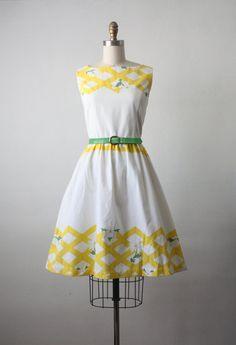 spring fling dress / vintage daisy print sundress / by 1919vintage