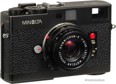 The Minolta CLE  A collaboration between Minolta and Leica lead to the Leica CL. The Minolta CLE (Compact Leica Electronic) was Minolta's follow up. A great compact camera that accepts Leica M mount lenses.