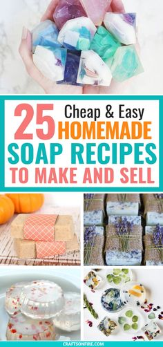diy cuadernos These Homemade Soap Recipes For Beginners are AMAZING! There are all kinds of different soaps you can make that smell so good. And you can make and sell them! Definitely worth trying these diy soaps! Soap Making Recipes, Homemade Soap Recipes, Homemade Beauty Products, Homemade Crafts, Homemade Stuff To Sell, Homemade Soap Bars, Homemade Things, Handmade Soaps, Diy Soaps