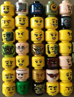 Lego faces angrier? New study says fewer smileys, more mad expressions. (PHOTO)