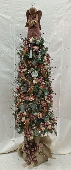 Country Christmas Tree Deer Antlers Pinterest